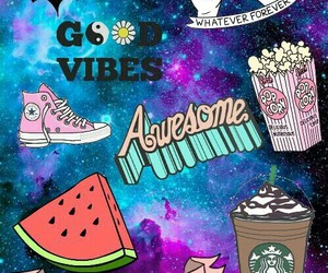 awesome, watermelon, and good vibes image