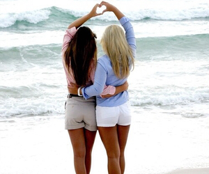 friends, best friends, and beach image
