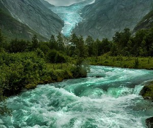 nature, norway, and mountains image