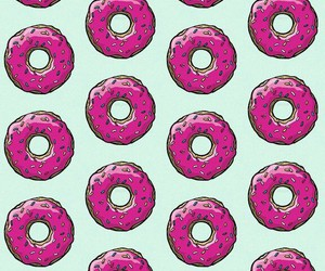 food, pink, and wallpaper image