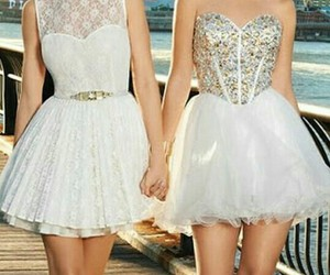 dress, white, and white dress image