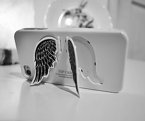 telephone, wings, and cute image