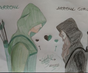 arrow, drawing, and oliver queen image