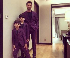 baby, suit, and hrithik roshan image