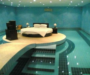 pool, bedroom, and bed image