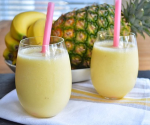 drink, pineapple, and food image