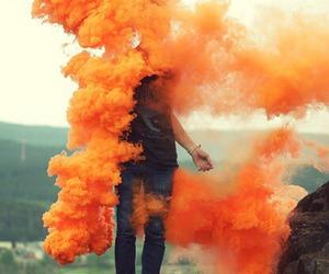 orange, smoke, and boy image