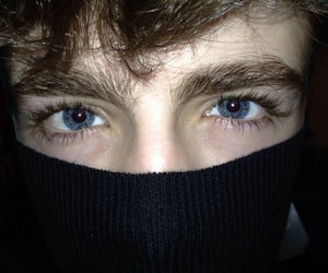 boy, eyes, and blue image