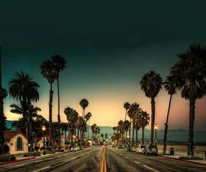 summer, california, and road image