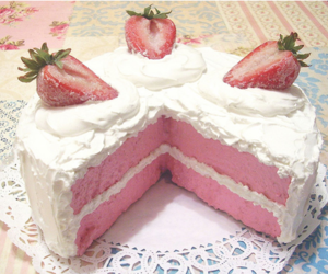 cake, strawberry, and pink image