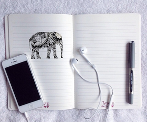 iphone, art, and music image