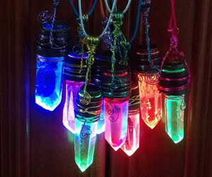 necklace, colors, and crystal image