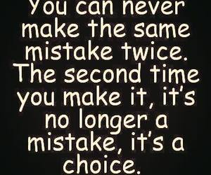 quote, mistakes, and choice image