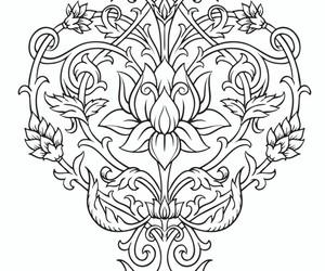 mandala, nature, and coloriage image