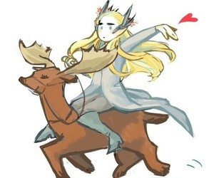 deer, draw, and thranduil image