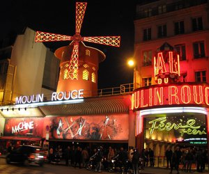 france, moulin rouge, and paris image