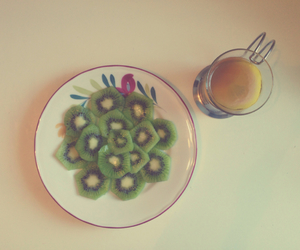 fit, tea, and fruit image