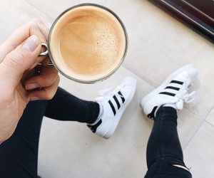 adidas and coffee image