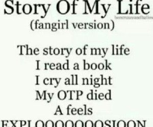 book, story of my life, and fangirl image