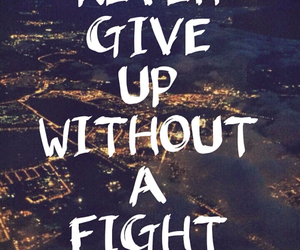 fight, give up, and life image