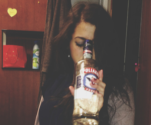 alcohol, girl, and grunge image