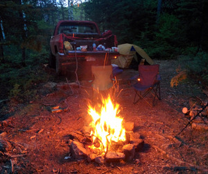 camp, car, and fire image