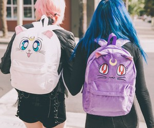 sailor moon, bag, and hair image