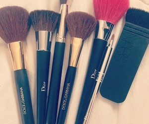 dior, makeup, and Brushes image