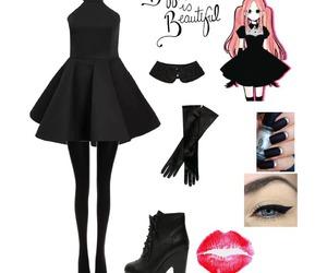 black, lolita, and style image