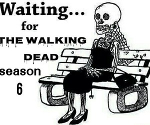 skull, waiting, and the walking dead image