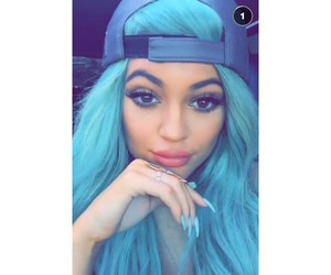 hair, blue, and kylie image