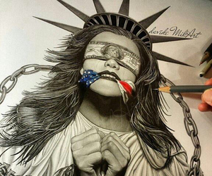 america, art, and drawing image