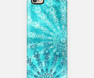 apple, blue, and boho image