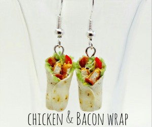 polymer clay, style of mcdonald's, and chicken and bacon wrap image