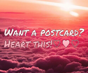 heart and postcard image