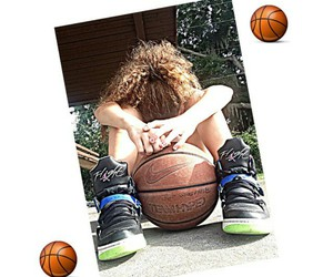Basketball, goals, and hair image