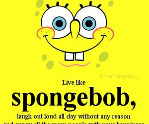 spongebob, quotes, and laugh image