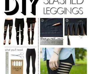 diy, leggings, and tutorial image