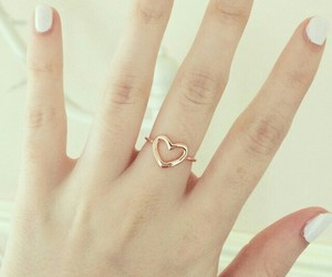 heart, nails, and ring image