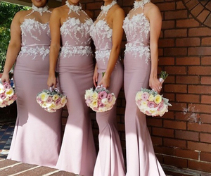 bridesmaid dresses, blush bridesmaid dress, and bridesmaid dress backless image