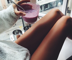 girl, legs, and drink image