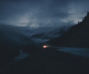 dark, nature, and light image