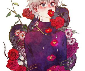 flowers, hunter x hunter, and purple image