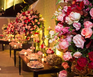 decoration, party, and pink and red image