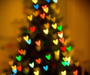 christmas, heart, and light image