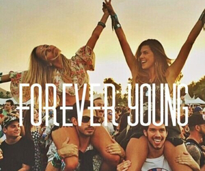 forever, young, and friends image