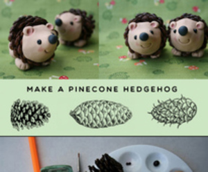 diy, cute, and pinecone image