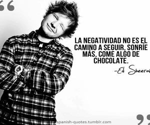 ed sheeran, frases, and chocolate image