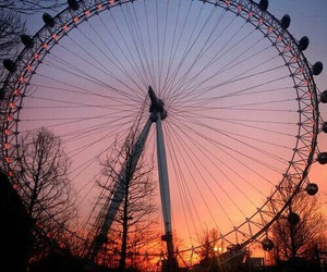 beautiful, sky, and london eye image