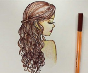 color, curles, and girl image